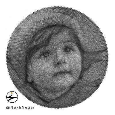 تابلو میخ و نخ هدیه تولد کودک زیبا