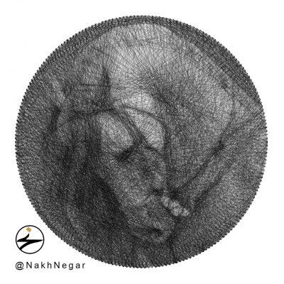 تابلو نخ و میخ تزئینی اسب نجیب