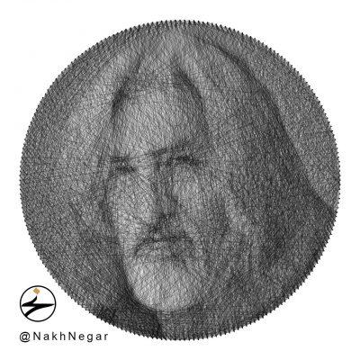 تابلو نخ هنری و نفیس استاد حسین منزوی
