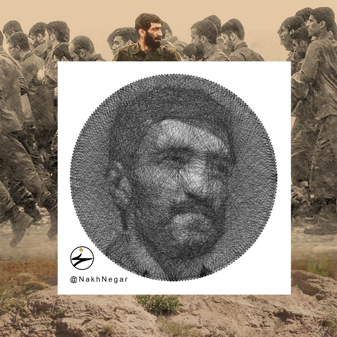 نخ نگار - تابلونخ ایستاده بر قله؛ حاج احمد متوسلیان