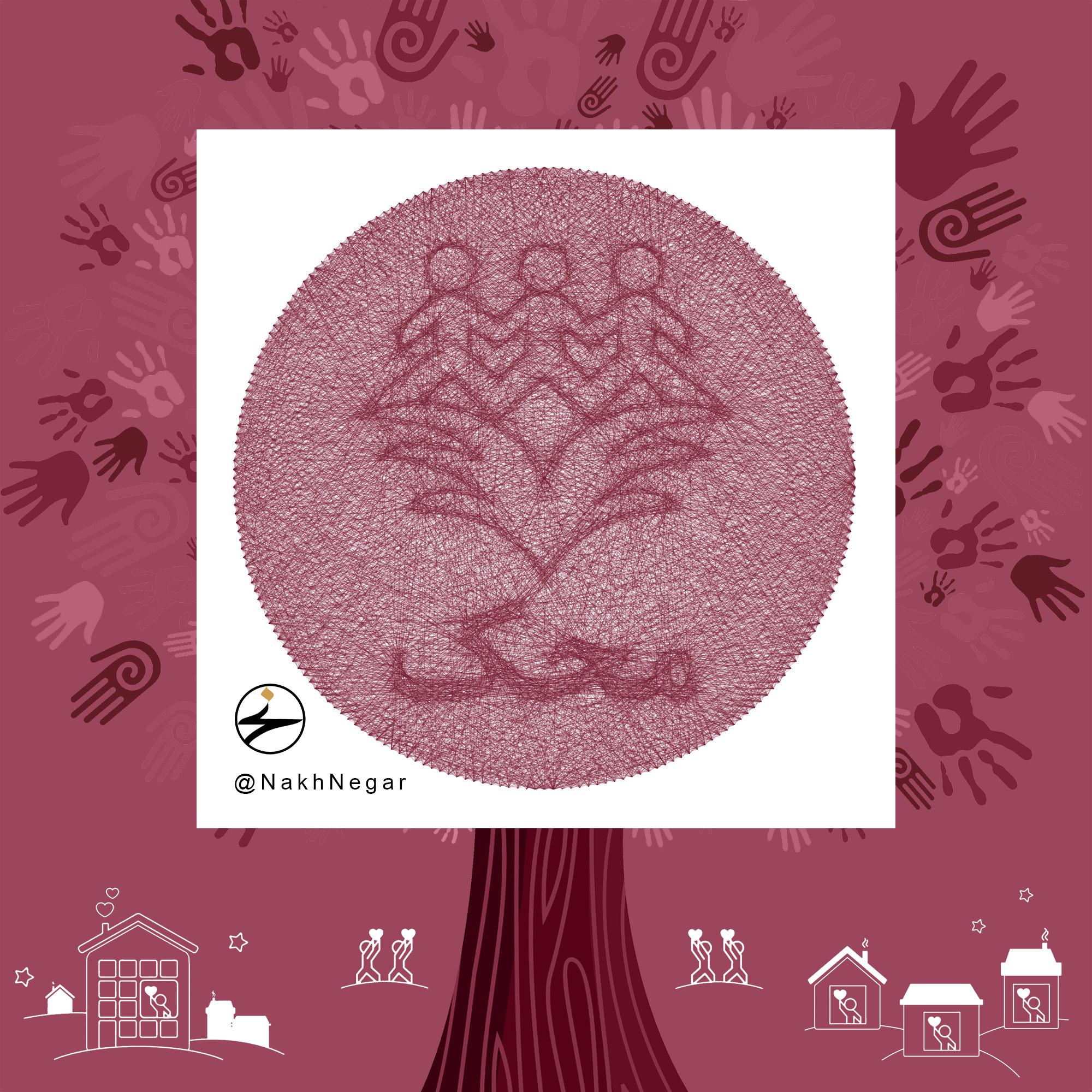 نخ نگار - تابلونخ لوگو موسسه خیریه حمایت از کودکان مبتلا به سرطان محک
